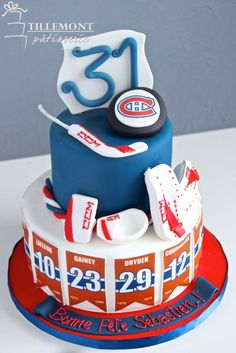 Montreal Canadiens Goalie Pads Sports Cakes | Patisserie Tillemont | Montreal