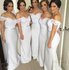 Mermaid 2018 bridesmaid dresses, Custom bridesmaid dresses, Lace bridesmaid dresses, cheap bridesmaid dresses, VB0008 #bridesmaiddress #bridesmaids #bridesmaidsdresses