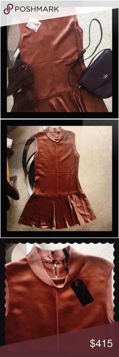rag & bone Sleeveless mini dress size 2 NWT Shimmery caramel brown rag & bone sleeveless mini length dress.  Easy to style up or down.  100% Viscose.  Dry clean only.  No defects or flaws. 🔵NEXT DAY SHIPPING 🔴 No Trades ‼️ Reasonable offers welcome rag & bone Dresses Mini