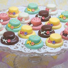 15 Tea Hat Petits Fours - Petits Fours - Roses And Teacups