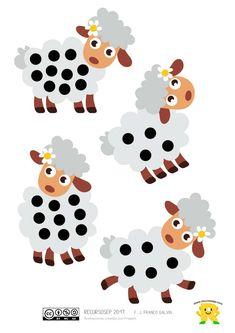 """¡Hola! Hoy seguimos con el juego """"Cada oveja con su pareja"""" que presentamos en otra entrada anterior. El material de esta vez es idéntico al anteriormente publicado pero sustituyendo lo… Lessons For Kids, Math Lessons, Vision Therapy, School Themes, Reggio Emilia, Fun Math, Farm Animals, Activities For Kids, Snoopy"""