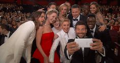 Though none of them actually walked away with a tiny golden statue, Samsung, Jennifer Lawrence, and a particularly star-studded selfie definitely won the Oscars last night, at least according to social media #SMO