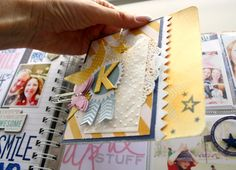 Using the Butterfly clips to add extra pages into the memory planner Kim Jeffress for Heidi Swapp #heidiswapp #heidiswapphellotoday