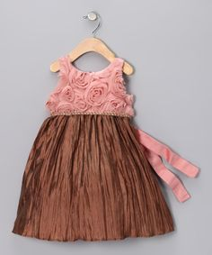 Champagne Rosembique Dress - Infant, Toddler & Girls