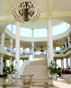 Resort Lobby, Grand Palladium Jamaica I walked these steps daily while honeymooning here. Jamaica Hotels, Montego Bay Jamaica, Jamaica Vacation, Jamaica Travel, Vacation Places, Dream Vacations, Vacation Spots, Caribbean All Inclusive, All Inclusive Family Resorts