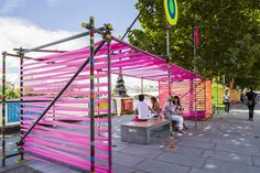Temple of Agape by Morag Myerscough and Luke Morgan (Pink Shelter)