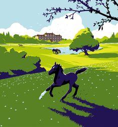 Chapter 1 Graphic Design Illustration, Illustration Art, Chapter 16, Thoroughbred Horse, My Works, Digital Art, Horses, Poster, Black Beauty
