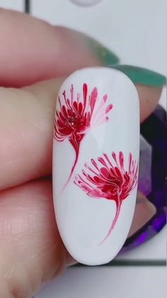 korean nail art nail art flowers Nails Nail art flowers & nagelkunstblumen & nail art fleurs & flores de uas & nail art designs, nail art summer, nail art diy, nail art pink, n Nail Art Designs Videos, Nail Design Video, Simple Nail Art Designs, Fingernail Designs, Fall Nail Art, Glitter Nail Art, Nail Art Hacks, Nail Art Diy, Nail Art Courses