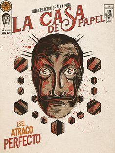 IllustrationLa casa de Papel (money Heist) Criado por Álex PinaSeries Antena 3 e Original Netflix