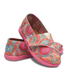 Take a look at this Pink Paisley Classics - Tiny by TOMS on #zulily today!