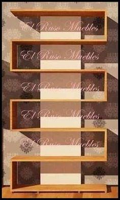 biblioteca minimalista moderna-tipo s-organizador-repisa