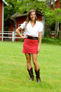 cowboy boots and skirts