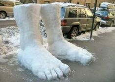 There's 2 feet of snow outside.