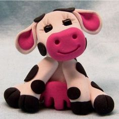 Polymer Clay Cow