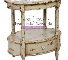 Stolik owalny 68x40x62 cm Kolekcja Paris Meble Prowansalskie