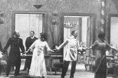 """DUNYASHA: The young mistress asked me to dance. There's too many gentlemen and not enough ladies, she said. But dancing makes my head swim."""" (act III) 1904"""