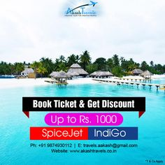 Special Fare Available!! Book Now and get discount upto Rs. 1000* For booking call us at 098749 30112 Email us at: travels.aakash@gmail.com Visit: http://akashtravels.co.in/special-offers/