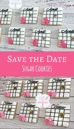 Save The Date Cookies #affiliate