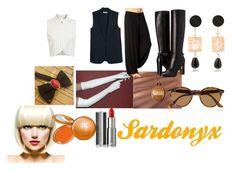 """Sardonyx Closet Cosplay"" by thecrystalheart on Polyvore featuring Miss Selfridge, MANGO, Anna e Alex, Burberry, Ray-Ban, WigYouUp, Stila and Givenchy"