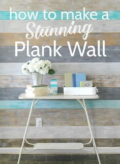 This diy plank wall is a simple, inexpensive way to add some style to any room in your house. this weathered wood wall is a fresh take on diy shiplap. Diy Wand, Wood Plank Walls, Wood Planks, Planked Walls, Pallet Walls, Pallet House, Diy Wood Wall, Ikea, Home Remodeling Diy
