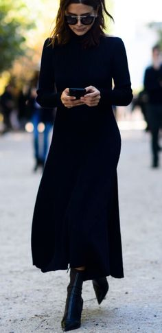 midi turtleneck dress More