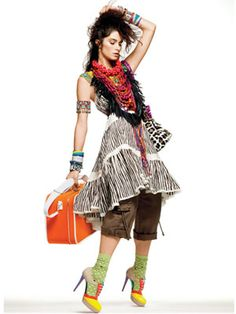 W hen a trend hits the runways it takes a year or two for the ideas to trickle down into the wardrobes of us ordinary people. A lot of work . Fashion Socks, Fashion Outfits, Fashion Tips, Edgy Look, Urban Fashion, Bohemian Fashion, Colorful Fashion, Editorial Fashion, Style Me