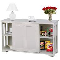 Baxton Studio Harlow Mid-century Modern Scandinavian Style White and Walnut Wood Sideboard Storage Cabinet - Walmart.com