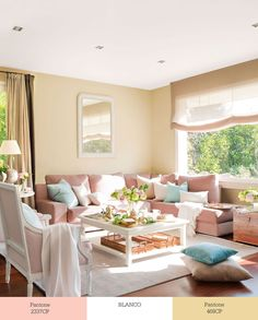 Pastel colors for the living room Beautiful Living Rooms, Beautiful Interiors, Living Room Inspiration, Interior Inspiration, Home Decor Furniture, Outdoor Furniture Sets, Family Room, Home And Family, Pink Sofa