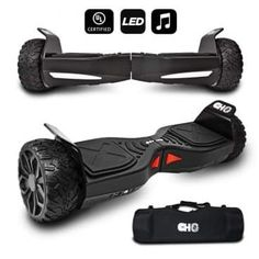 CHO[TM All Terrain Rugged Inch Wheels Hoverboard Off-Road Smart Self Balancing Electric Scooter with Built-in Speaker LED Lights Certified Ktm, Yamaha, Offroad And Motocross, Honda, Small Luxury Cars, Moped Scooter, Electric Scooter, Electric Cars, Electric Vehicle