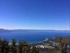 Lake Tahoe, CA. Spectacular view from the observation deck at the Heavenly Gondola