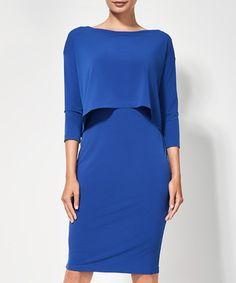 Cobalt blue layered dress Sale - MAISON SOPHIE Sale