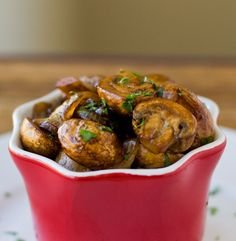 Another mushroom recipe! Balsamic Mushrooms and Onions @ the Culinary Hill blog.