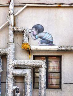 Seth Globepainter 3d Street Art, Amazing Street Art, Street Art Graffiti, Street Artists, Urbane Kunst, Sand Art, Art For Art Sake, Outdoor Art, Funny Art