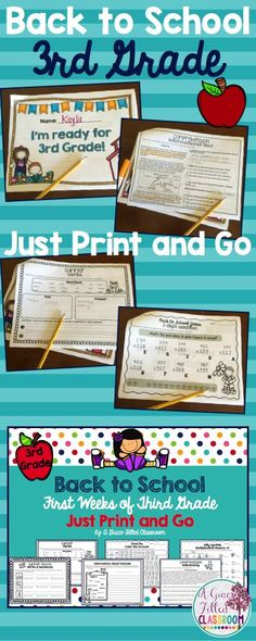 Third grade teachers, this is just what you need as you head back to school! Use this packet as a review of second grade skills while you transition your new third graders into your class.