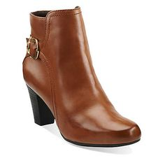 Sapphire Vesta in Tan Leather - Womens Boots from Clarks. They'll look lovely with my tweed work trousers.