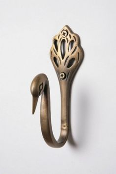 Anthropologie hook (I realize this is a swan. hence cygnus. but it would so work with peacock decor too. Peacock Decor, Peacock Theme, Peacock Art, Female Peacock, Peacock Colors, Peacock Wedding, Peacock Bathroom, Peacock Nursery, Bathroom Towel Hooks