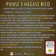 """136 Me gusta, 5 comentarios - RICARD H.C - CUENTA OFICIAL © (@lecturas_millonarias) en Instagram: """"LIBRO: """"PIENSE Y HÁGASE RICO"""" AUTOR: Napoleon Hill  PARTE 8 __________________  La mente…"""""""