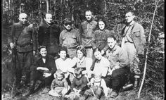 Members of the Bielski family at their camp in the Naliboki forest, Belarus, May 1944.Throughout the War the Bielski brothers carried out a continuous guerrilla war against the Nazis. They often used captured German weapons gained from ambushed German patrols. They also derailed troop trains and blew up bridges and electricity stations and rescued 1236 Jews bound for extermination, including their own sister.