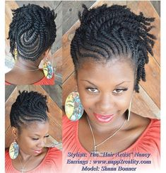 Protective style for natural hair by Anjel Eyes