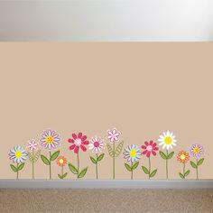 Vinyl Wall Decal Stickers Daisy Flowers by wallartdesign on Etsy, $49.99