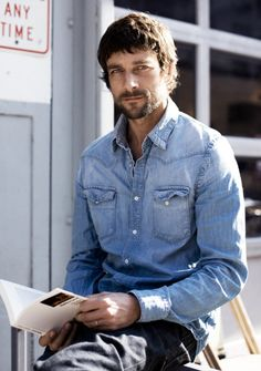 Men's Casual Shirts | mens chambray shirt #menswear #mensstyle #mensfashion