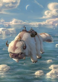 Avatar: The Last Airbender - Aang, Appa, Sokka, & Katara - Book One: Water by Biram-Ba .deviantart.com