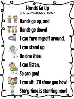 DOMAIN: TRANSITIONS I really like transition songs for toddlers. Toddlers tend to be able to remember songs rather quickly and sometimes as soon as you start singing they will begin to do what ever the song is about. Kindergarten Songs, Preschool Music, Kindergarten Classroom, Preschool Activities, Hello Songs Preschool, Toddler Classroom, Preschool At Home, Therapy Activities, Spring Songs For Preschool