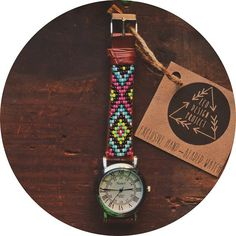 Beaded watch - eco design project