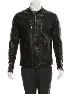 Giorgio Brato Leather Moto Jacket w/ Tags
