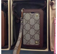 iPhone 6 Cases - iPhone 6 Plus Cases - New Arrival Real Gucci Book Wallet Cover Pouch Brown - Free Shipping - Chanel & Louis Vuitton Authorized Store