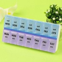 Wish | Case Organizer Pill Storage 7 Day Holder Portable Medicine Box Weekly Container