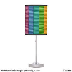 Abstract colorful stripes pattern table lamp