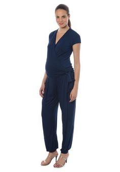 aef6b6f286c Combinaison de grossesse habillée bleue marine - Pietro Brunelli Milano -  Taylorbox
