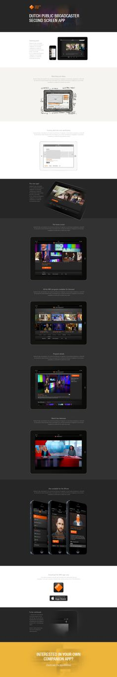 The #NPO #app #design project page on the @stoneroos website #UI #UX #webdesign